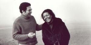 Maya Angelou med sin son